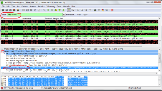 Filter-wireshark